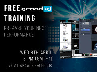 News about free training GrandVJ at 8th April