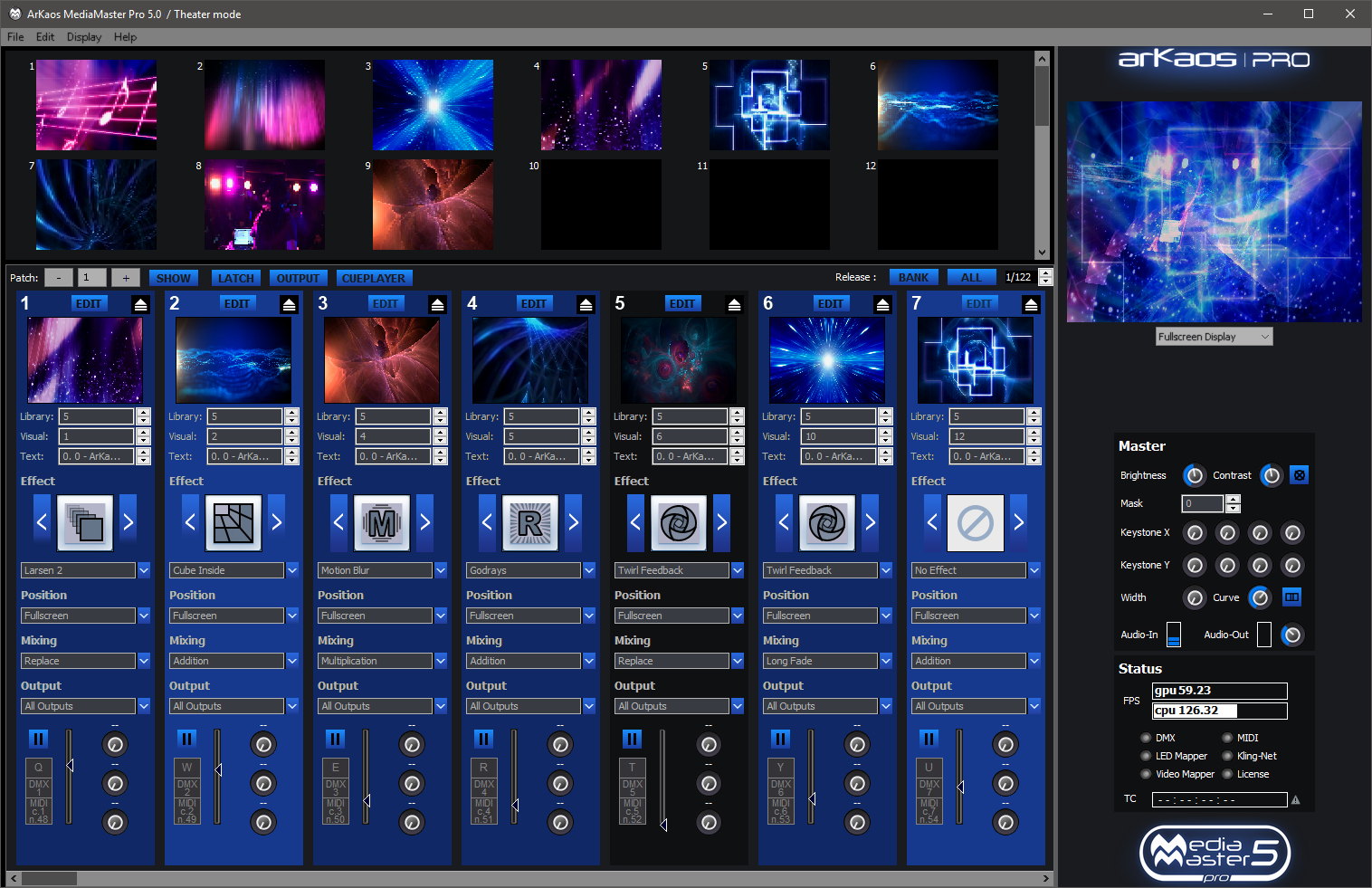 ArKaos MediaMaster Professional Theatre Mode