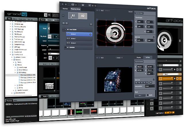 ArKaos GrandVJ XT and Video Mapper