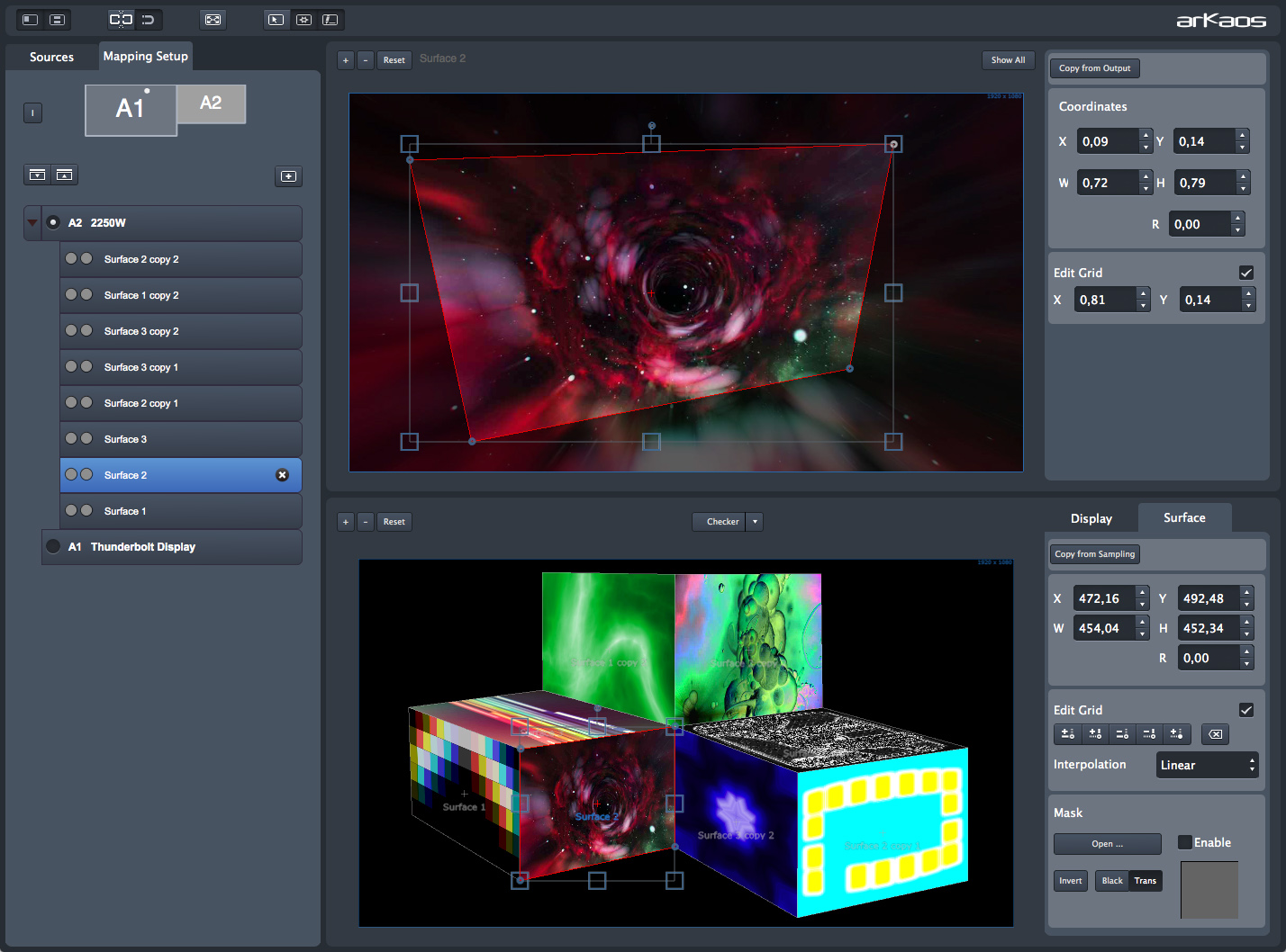 GrandVJ XT - VideoMapper