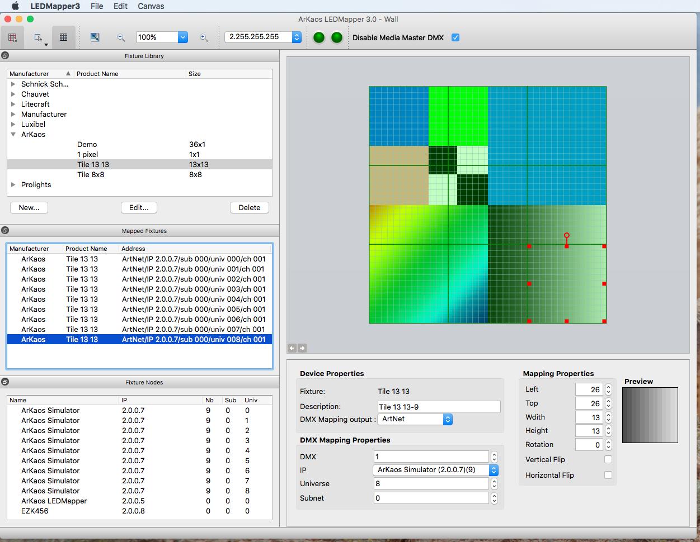 LED Mapper Extension for MediaMaster | ArKaos Pro