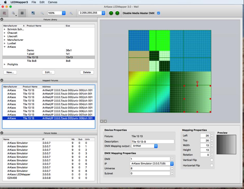 LED Mapper Extension for MediaMaster Pro