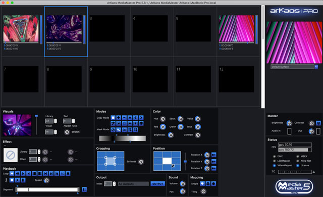 ArKaos MediaMaster Professional Fixture Mode