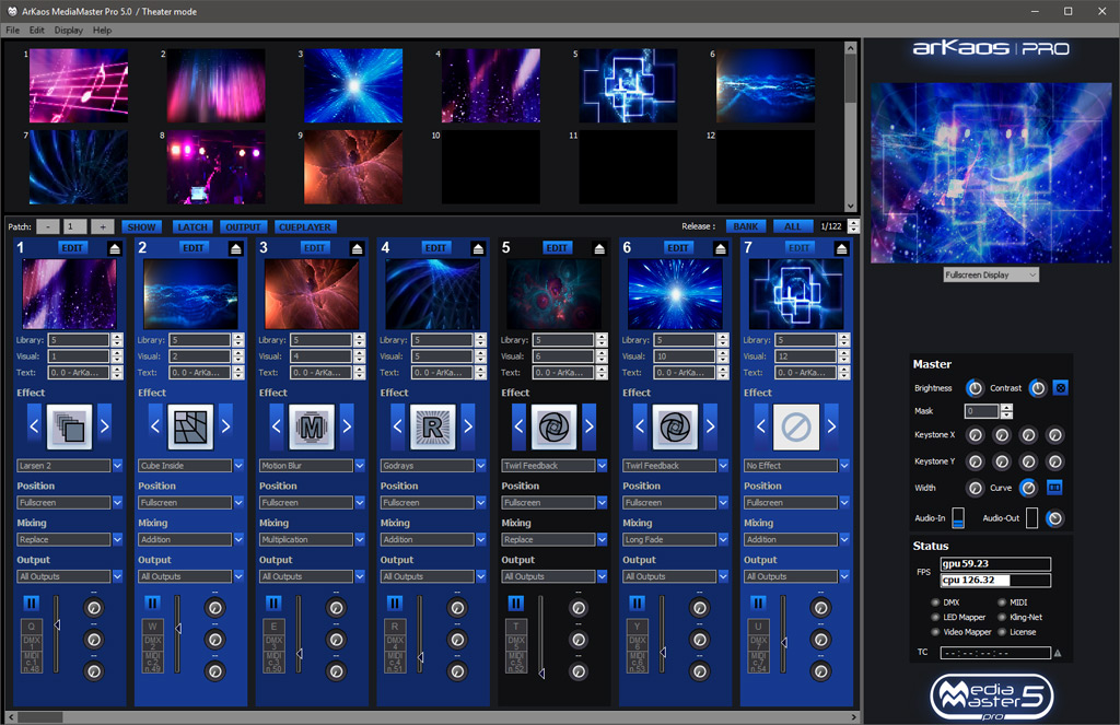 ArKaos MediaMaster Express Theatre Mode