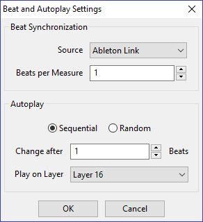 GrandVJ Autoplay Ableton Link