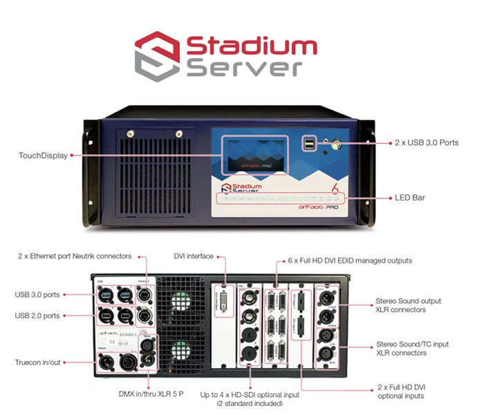 ArKaos Professional Stadium Server with MediaMaster Pro