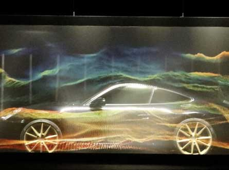VideoMapping on the Porsche event in Berlin