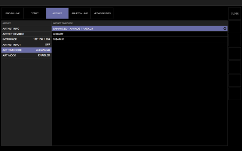 showkontrol enabling GrandVJ trackdj